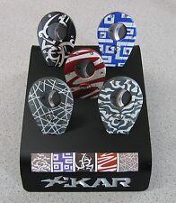 BRAND NEW Xikar Xi1 BODY ART Cigar Cutter - Blue Labyrinth Pattern