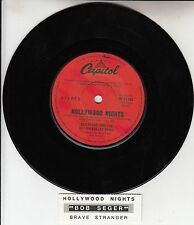 "BOB SEGER  Hollywood Nights 7"" 45 rpm vinyl record + juke box title strip RARE!"