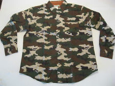 NEW Mens Camo Shirt Small Camouflage Long Sleeve Thin Warm Green Flannel S