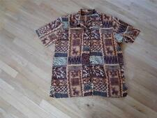 ~MAGIC LG SS VENTED BROWNS TOP NOTHING MATCHES ANIMAL PRINT BROWNS~$4.50 SHIP~