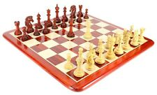 "Bud Rose Wood Encore Staunton Wooden Chess Set Pieces 4.5"" Matching Board + Box"