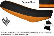 ORANGE & BLACK CUSTOM FITS KTM EXC 125 250 300 400 DUAL LEATHER SEAT COVER