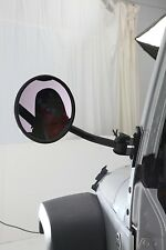 1997-2017 Jeep Wrangler Windshield Mount Quick Release Trail Mirrors Black Pair