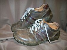 *WORN* *USED* SKECHERS MENS SIZE 8.5 BROWN LEATHER SHOES OXFORDS