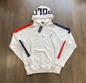 Polo Ralph Lauren Spell Out Hoodie Sweatshirt Sweater White New w/Tags Men's XXL