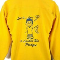 Lambda Rho Pledgee Sweatshirt Vintage 80s Fraternity Made In USA Size Medium