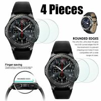 4 Premium Temper Glass Screen Protector For Samsung Gear S3 Frontier Smart watch