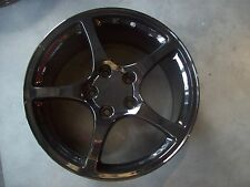 Corvette Wheels Rims 2000 to 2004 Factory Set 4 Black Powder Coat 17x8.5 19x9.5