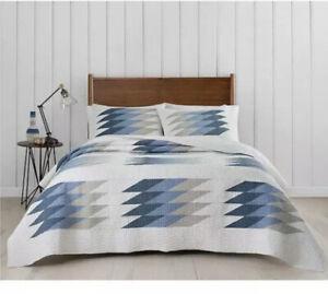 NIP Pendleton Home Reflection Lakes Blue Gray Full/Queen Quilt & Shams Set 3pc