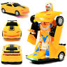 Retailery 2-In-1 Robot Transformer Toy Car With Lights And Sounds, Yellow