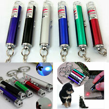 NEW 2 IN 1 RED LASER LAZER POINTER PEN + LED LIGHT CAT