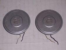2PCS Flight Helmet EARPHONE SPEAKERS silver