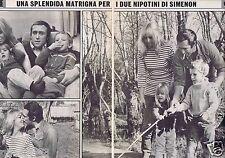 Coupure de presse Clipping 1968 Mylène Demongeot  (2 pages ) en Italien