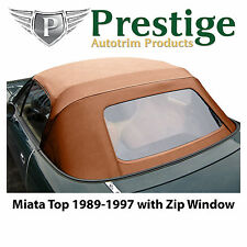 Mazda Miata NA Tan Convertible Top Soft Top Roof Zippered Rear Window 1989-97