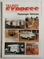 Talbot Express Minibus Sales Brochure Passenger Vehicles 1983 Perfect Condition