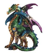 "GREEN SENTRY        Standing Green Dragon  Statue   H5"""