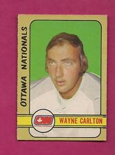 1972-73 OPC WHA # 337 NATIONALS WAYNE CARLETON HIGH #  VG CARD (INV# 7504)