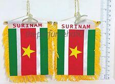 Suriname Flag Surinam Mini Banner Car rear view mirror glass window