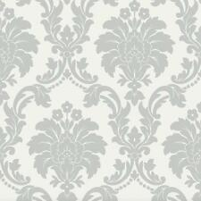 ROMEO WHITE GREY DAMASK QUALITY ARTHOUSE HEAVYWEIGHT LUXURY WALLPAPER 693503