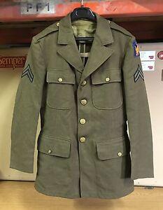 GENUINE USAAF WW2 UNIFORM JACKET COAT WOOL OD DATED 1942 EX COND !!! 37R