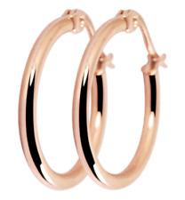 Titanium Titan Ohrhänger Ohrringe Klapp Creolen Kreolen dünne Damen Rosegold 20