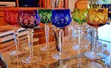 12 exquisite vintage wine glasses