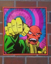 Red Skull Marvel Third Eye tribute blacklight poster Captain America Hail Hydra!