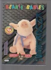 TY beanie Babies Series 3 Birthday Card Knuckles Teal #41