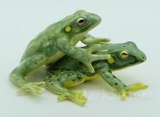 Figurine Animal Ceramic Salt Pepper Shaker - Green Frog Mating - FSP002