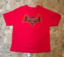Harley-Davidson Louisville KY Dealer T-Shirt Double Side Graphic Red 2XL