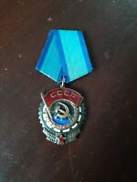 Rare Soviet Russian USSR Red Banner of Labour Medal Seven Digit Serial # 1008860