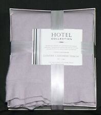 "HOTEL COLLECTION 100% PURE CASHMERE PALE AMETHYST FRILLED THROW 50"" x 60"""
