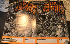 Lot Of 2 GWAR - 1992 Tour Posters - RARE Unused Promo Posters 19 X 13 In