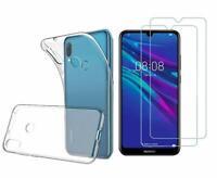 Huawei Y6S 2019 -  Pack 2 films en verre trempé protection écran + coque