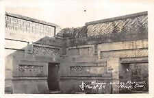 MITLA OAXACA MEXICO SALON DE LAS PINTURAS~MF MOD #8A REAL PHOTO POSTCARD 1940s