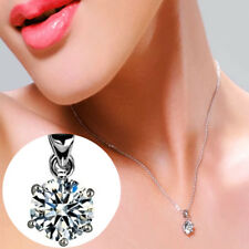collana donna punto luce solitatio brillante strass zirconi argento da con in