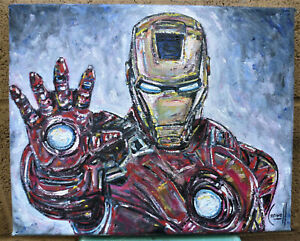 Silver Surfer Oil Painting Marvel Comics Hand-Painted Canvas Art Not a Print #3