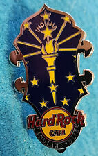 INDIANAPOLIS CORE HEADSTOCK SERIES INDIANA STATE FLAG TORCH Hard Rock Cafe PIN