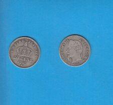 Gertbrolen 20 Centimes argent Napoléon III tête laurée 1867 Paris Exemplaire N°1