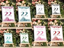 Peacock Design Wedding Table Numbers Place Card for Receptions, Parties, Banquet