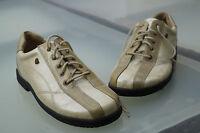 FINN Comfort Damen Schuhe Schnürschuhe Einlagen Gr.37 Lack Leder beige TOP