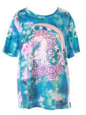 T-70 Turchese Luna Rose Einhorn Fantasia Magic T-Shirt Pastel Goth Lolita Kawaii