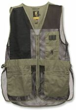 Browning Trapper Creek Mesh Shooting Vests, Sage/Black, S, Right Hand 3050265401