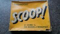 Vintage Scoop Game John Waddington (monopoly) complete. Retro board game