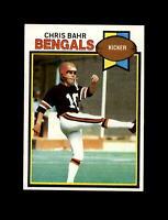 1979 Topps Football #225 Chris Bahr (Bengals) NM-MT