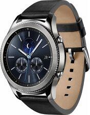 Samsung - Gear S3 Classic 46mm Smartwatch - Black Leather Band - SM-R770NZSAXAR