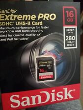 Sandisk Extreme Pro 16 GB Velocidad de lectura: hasta 280 MB/s1, II SDHC clase 10