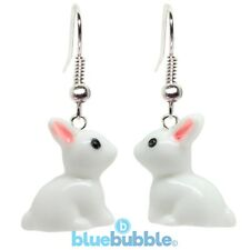 Bluebubble BUDDY THE BUNNY Rabbit Earrings Cute Lucky Charm Retro Easter Animal