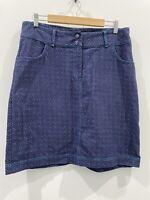 Boom Shanker Boho Navy Polka Dot Skirt Size 12 EUC
