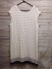 Madewell Scatter block Style F3390 Tassel Dress Tunic Ivory Sz L